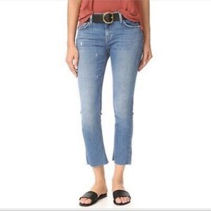 Current/Elliot Cropped Sawyer Straight Jeans Raw